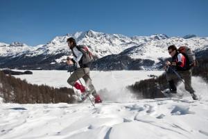 Bergell_Schneeschuhwandern_beeindruckende_Kulisse